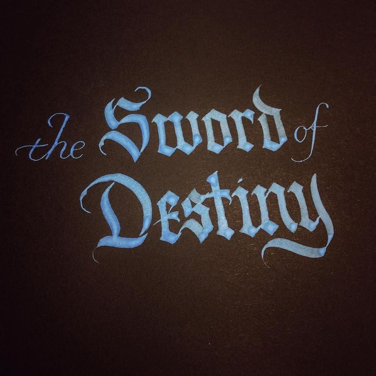 The Sword Of Destiny  #calligraphy #witcher3wildhunt #witcher3_blackletter #murmansk #gothicscript #blackletter #каллиграфия #мурманск