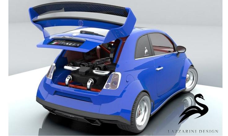 Ferrari-powered Fiat 500Image Fiat550Italiamotorejpg, Veggies Burgers, Ferrari 458, Cars, Fiat550 Italia, 458 Italian, Genius Ideas, Fiat 500, Lazzarini Design