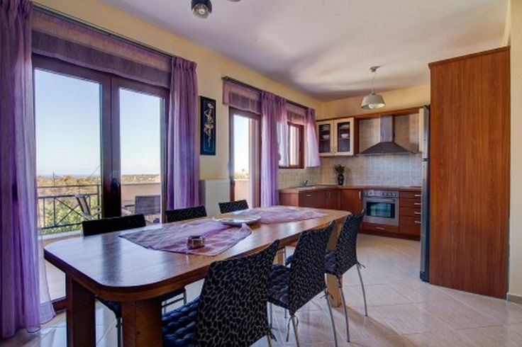 Dining area and kitchen with sea view