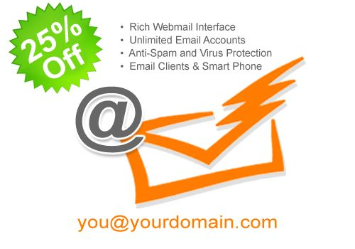 25% Off on Email Hosting
