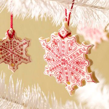 Salt-Dough Snowflake OrnamentSalts Dough Ornaments, Cookies, Salt Dough Ornaments, Snowflakes Ornaments, Saltdough, Christmas Ornaments, Cut Outs, Christmas Trees, Christmas Tree Ornaments