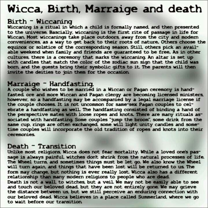 The 3 Rites of Pagans/Wiccans