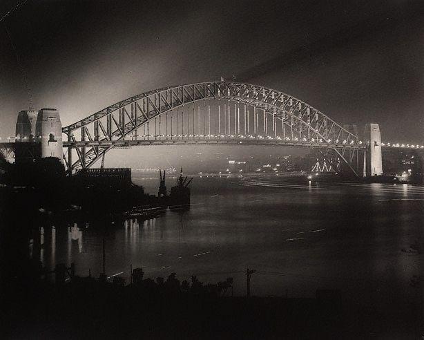 Harold Cazneaux - Opening night of Sydney Harbour Bridge, 1932