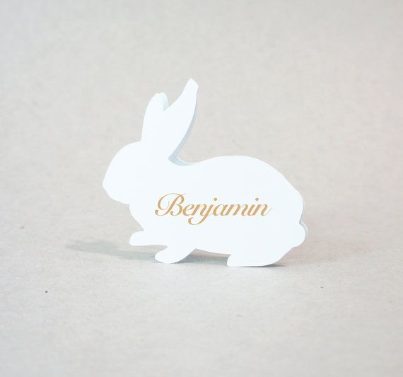 Rabbit  Wedding Place Cards  Place Cards  by JonNiPaperGoods, $100.00