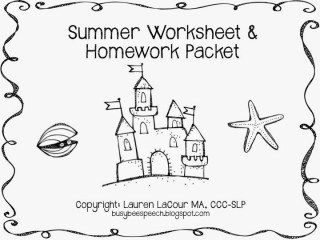 Summer Worksheets with a Freebie! :) - Busy Bee Speech