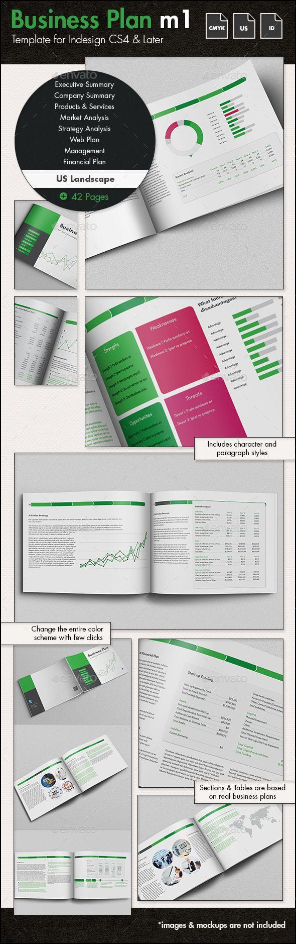 Business Plan Template m1 - US Letter Landscape