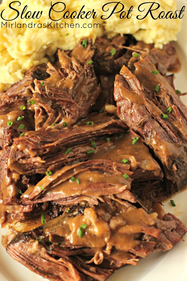 This Slow Cooker Pot Roast is the best pot roast I have ever made with any method! It takes just five minutes to get it in the slow cooker and the result is phenomenal.  Juicy, tender beef with perfect seasonings and succulent sauce for gravy or to lick off your plate!  This is my favorite pot roast recipe of all time and my favorite slow cooker recipe of all time.  You can't beat that for dinner made easy.