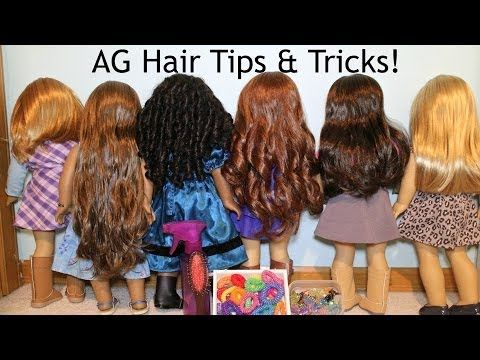 How to Curl American Girl Dolls Hair - YouTube