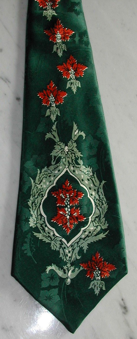 40s Vintage Zoot Suit Lindy Hop Swing dance 4 1/2 inches WIDE Silk Tie