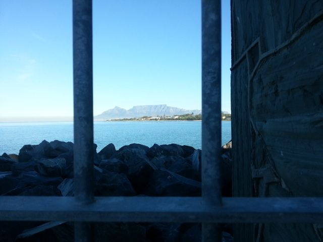 Table Mountain and Cape Town from Robben Island.
