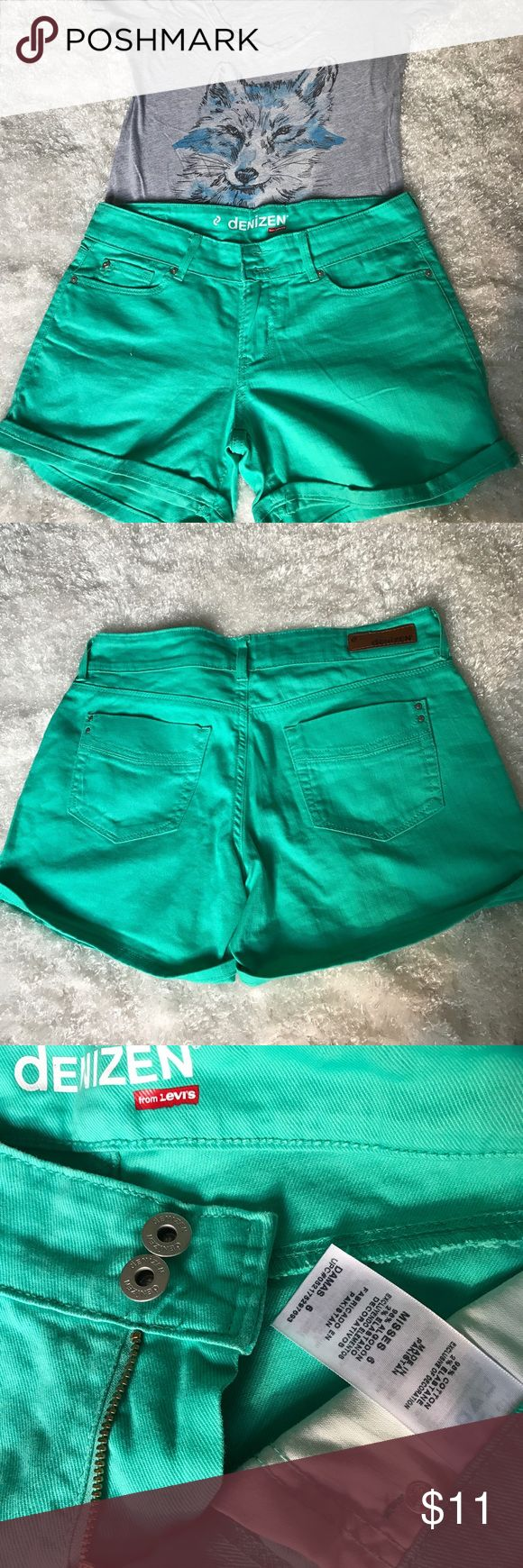 LEVI'S teal jean shorts Bright and fun Levi's teal jean shorts! Never worn. Levi's Shorts