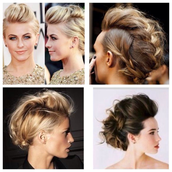 thats cool, a faux-hawk up do for long hair :)