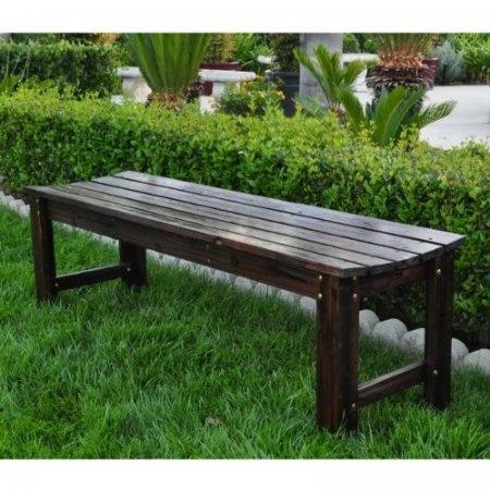 Backless Cedar Garden Bench (Burnt Brown) (18.25H X 60W X 17D) | Nice Garden  Benches | Pinterest | Garden Benches, Benches And Gardens