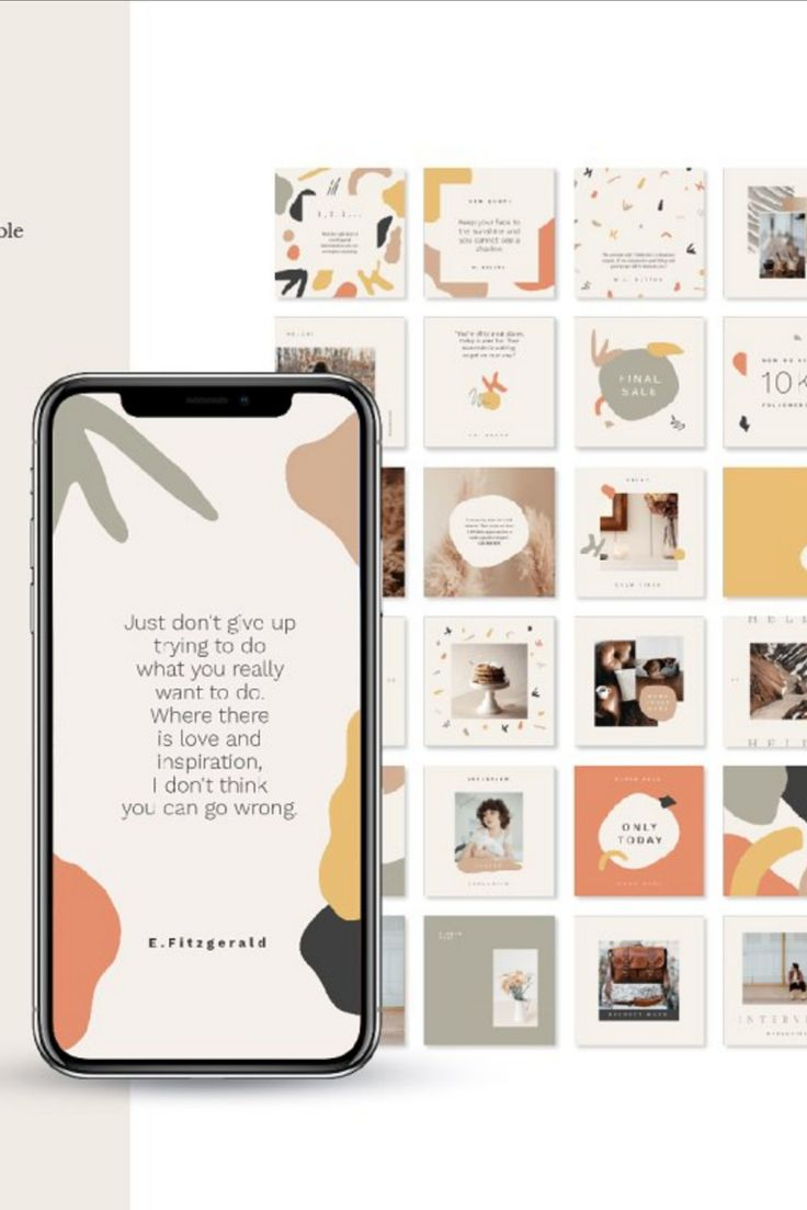 Calm Social Media Bundle in 2020 Instagram template