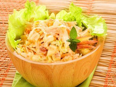 Imagem da receita Salada de maçã, cenoura e repolho