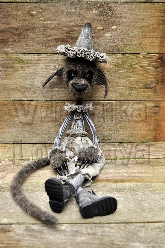 RESERVED for Jennifer. OOAK Gothic Artist Cat. The by DarkAlley