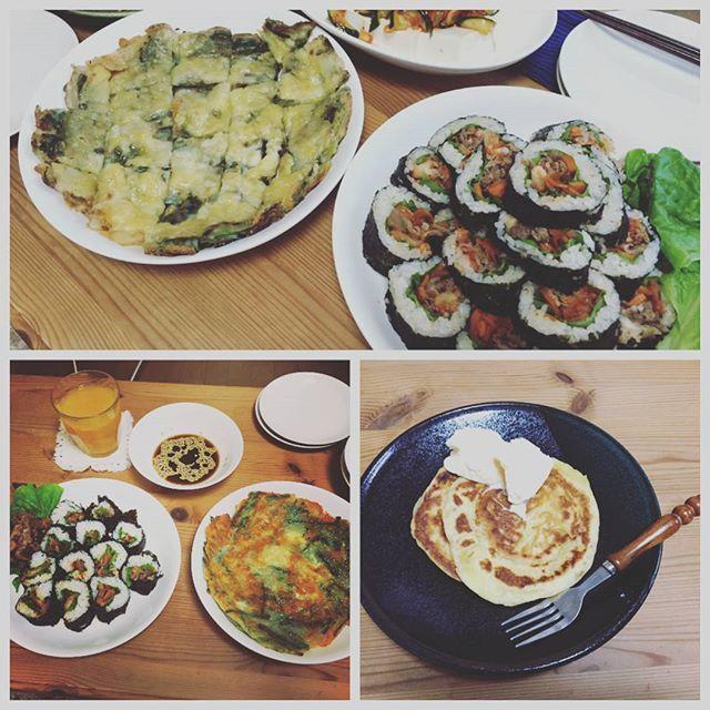 to.227.ta段々上手くなってる  韓国料理(๑•̀ㅂ•́)و✨ #韓国料理#キンパ#ホットク#チヂミ#手作り#韓国海苔#おうちごはん