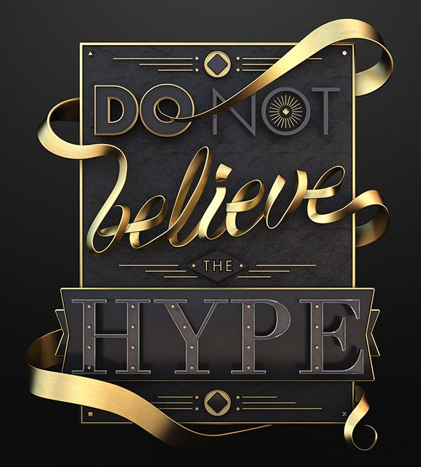 Typography / Hype on Behance