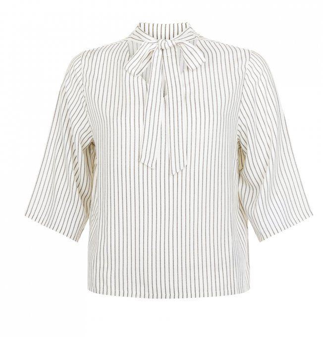 Chemise à col lavallière New Look