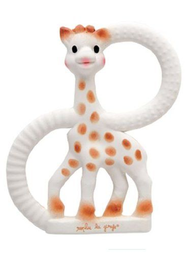 Vulli So'Pure Teether, Sophie the Giraffe, made from 100% natural rubber.