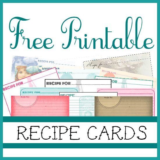 {Free♥} Printable Recipe Cards ..... http://sweetlyscrappedart.blogspot.co.uk/2012/02/free-printable-recipe-cards.html