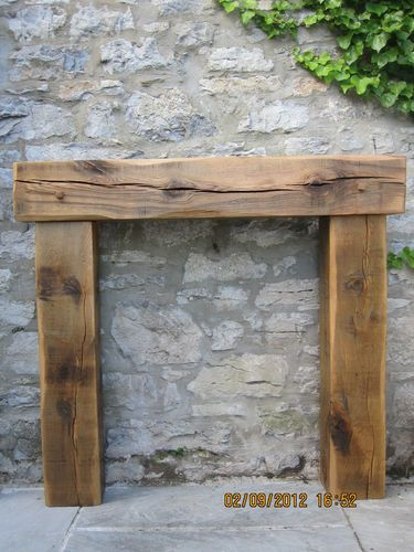 SOLID AGED FRENCH OAK WOOD FIREPLACE rustic fire surround fire place | eBay