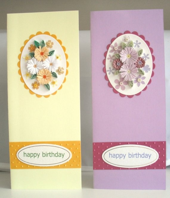 Quilling birthday cards quilled handmade by PaperDaisyCardDesign, £7.00