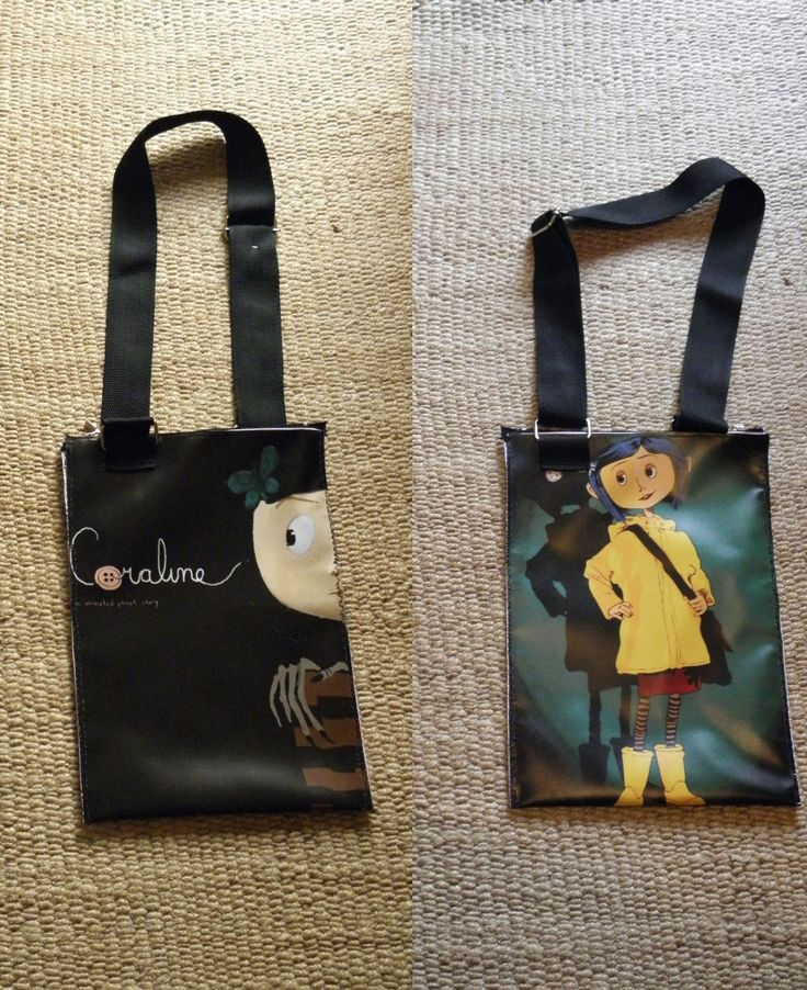 PLASTIC BAG PRINTED WITH CAROLINE FROM MOVIE, TWO SIDES, WATERPROOF