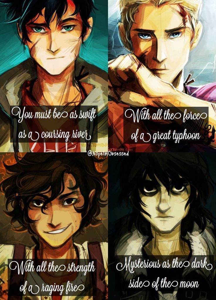 Percy Jackson, Jason Grace, Leo Valdez, and Nico Di-Angelo