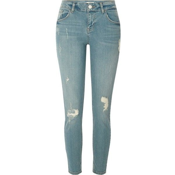 1000  ideas about Light Blue Ripped Jeans on Pinterest | Outfit