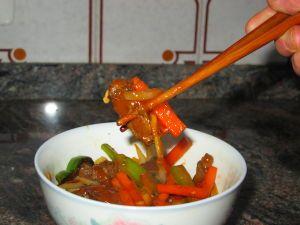 Receta de Chop suey de ternera picante