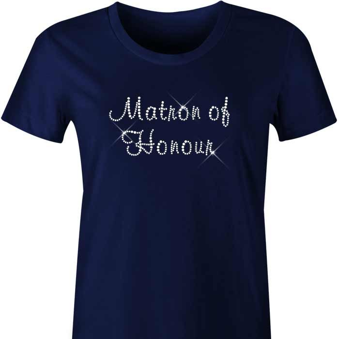 Matron of Honour Diamante TShirt / Singlet