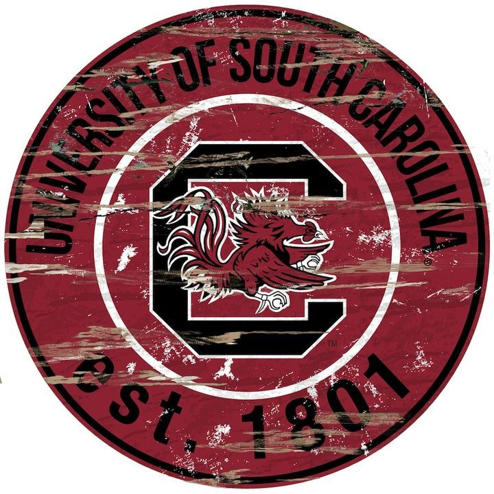"Kohl's South Carolina Gamecocks Distressed 24"" x 24"" Round Wall Art"