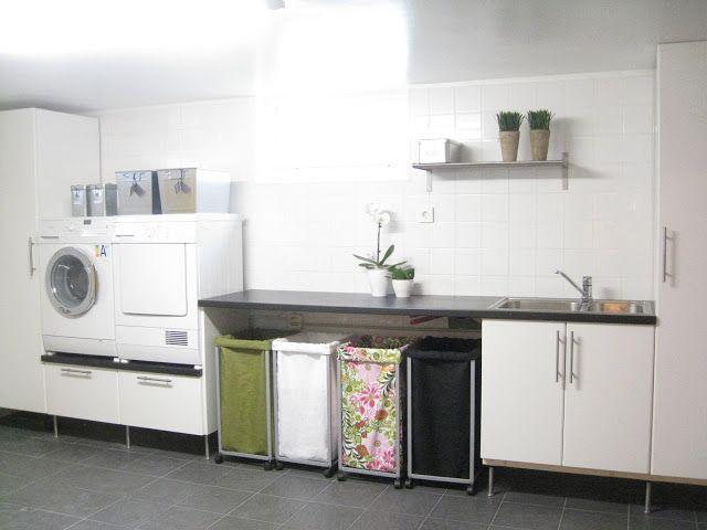 waschküche arbeitplatte über waschmaschine und trockner