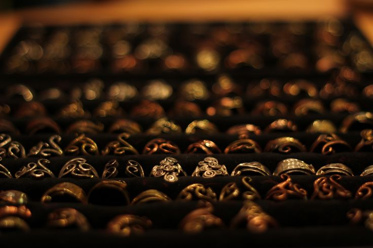 One little part of our huge unique ring collection... To check them all out please visit our webstore.