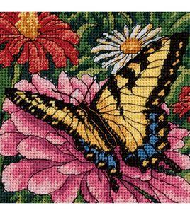 Butterfly On Zinnia Mini