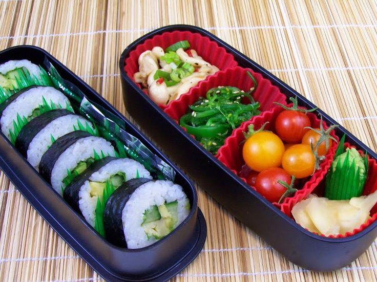 Lecker Bentos und mehr: Bento Nr. 349 Pilzsalat zu Sushi