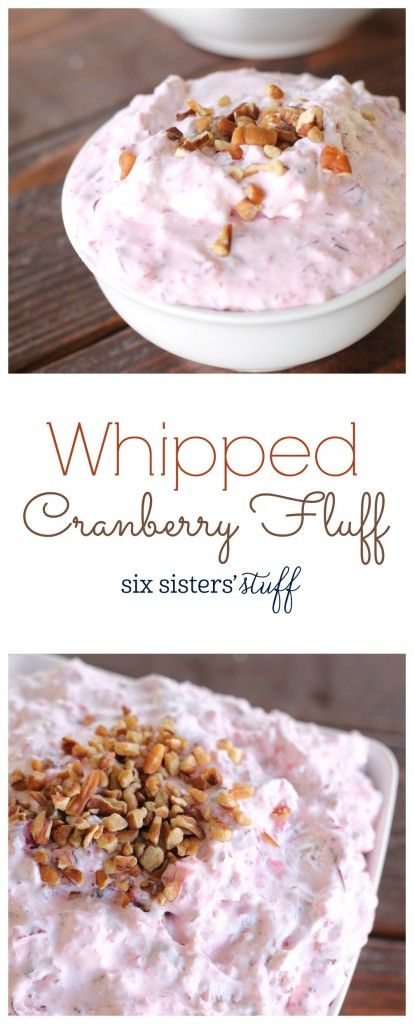 Whipped Cranberry Fluff recipe. Perfect for Thanksgiving! So delicious and traditional.