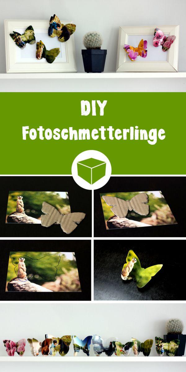 DIY Schmetterlinge aus Deinen Fotos