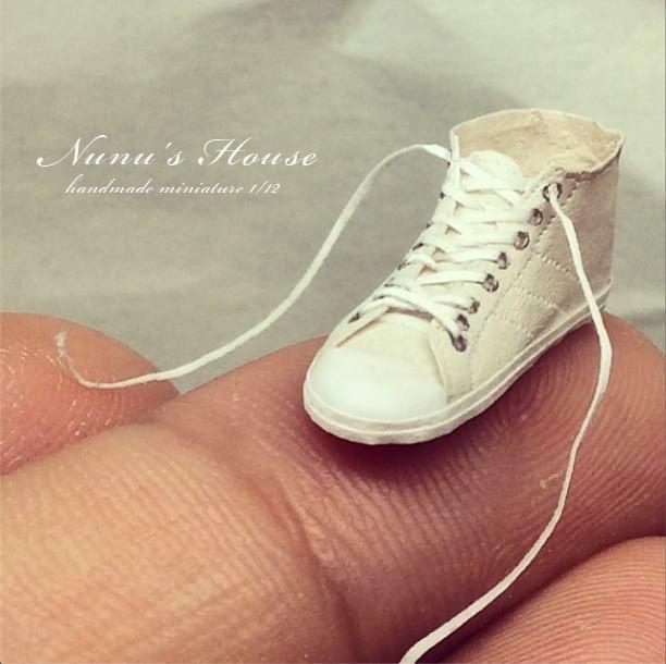 Mr.Tanaka Tomo, Japanese miniatures artist, now also makes mini shoes.