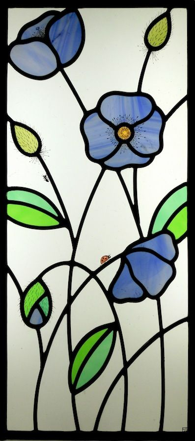 #Contemporary-stained-glass himalayanPoppy window