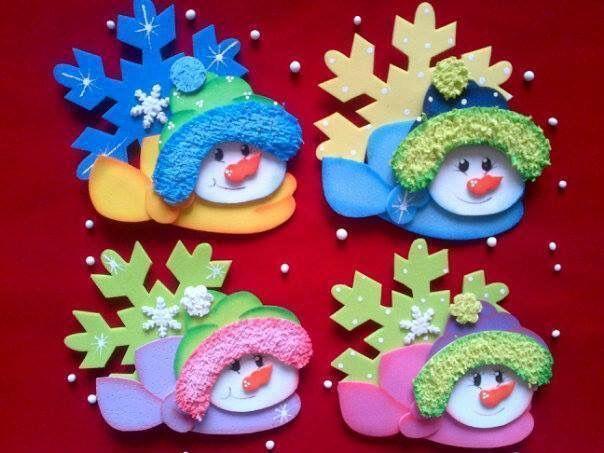 navideas adornos navideos esferas nieve goma eva fieltro moldes navidad hogar