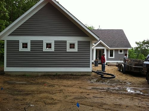 Gray Siding Vinyl Siding Vs Fiber Cement Building A