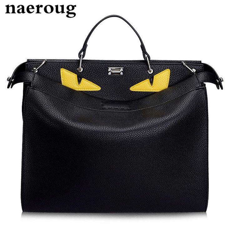 39.99$  Buy here - New Luxury Handbags Women Bags Designer Large Monster Bags Brand Men Women Genuine Leather Totes Famous Men's Laptop Bags 3 Size  #buyininternet