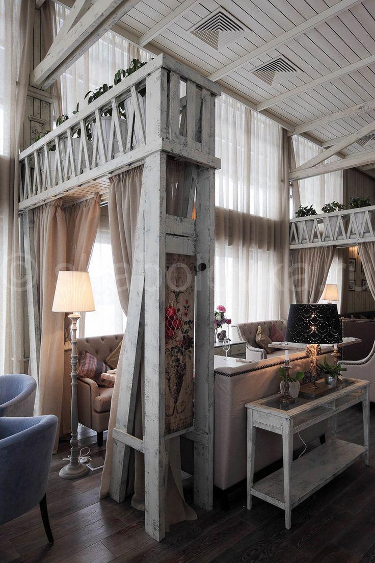 Florentini - интерьер ресторана в стиле прованс, restaurant in country stile
