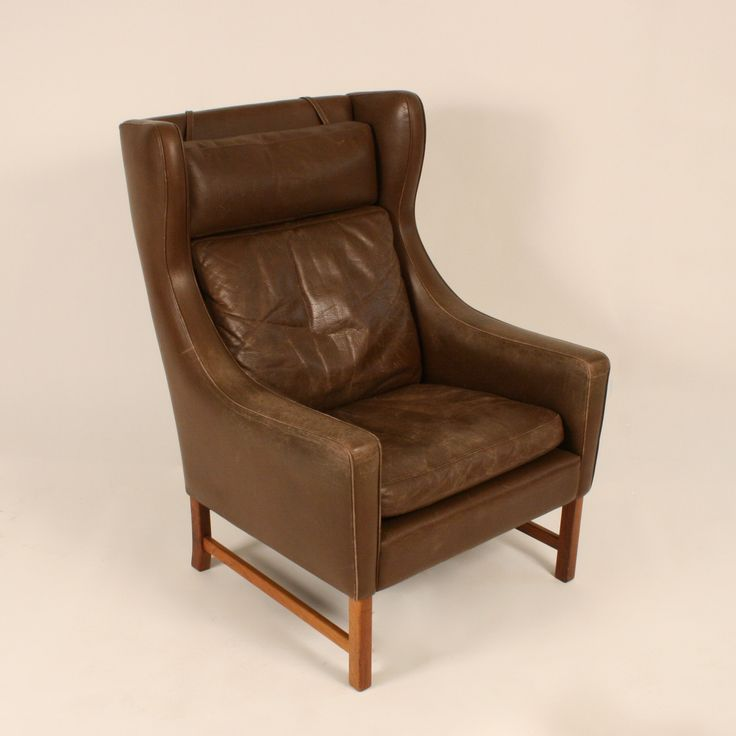 "Leather armchair ""Vatne 965"" designed by Fredrik Kayser for Vatne Møbler in 1964"