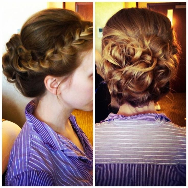 Bridesmaid Updo idea--kind of in love with braids