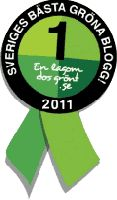 Vinnare Sveriges bästa gröna blogg 2011