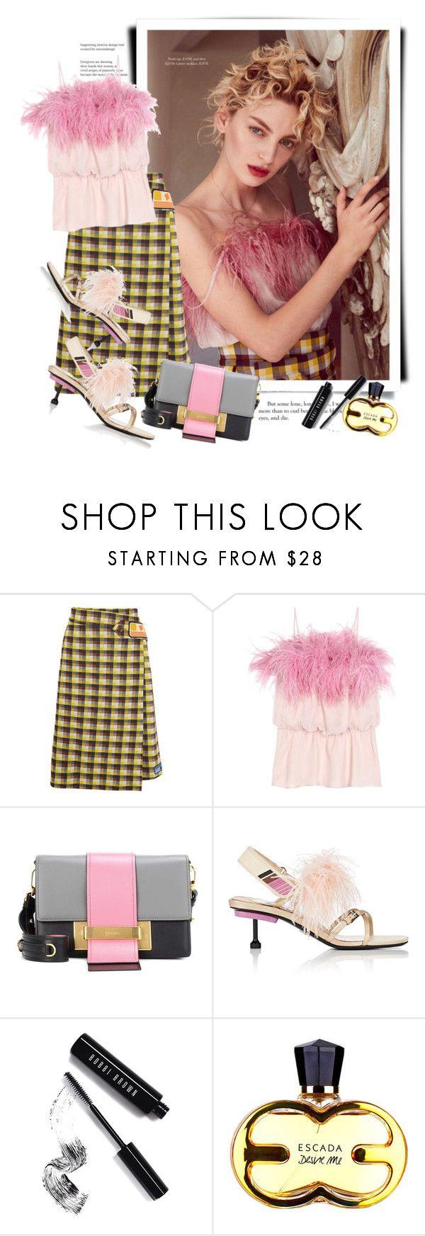 """Prada Spring 2017"" by sella103 ❤ liked on Polyvore featuring Prada and Bobbi Brown Cosmetics"