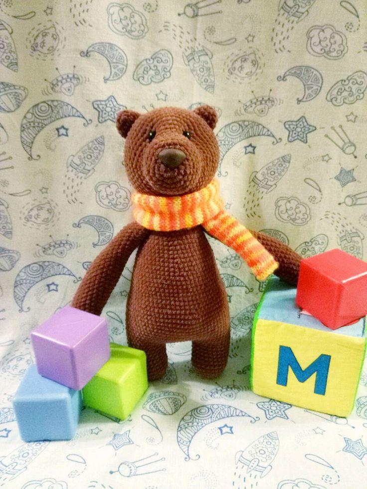 Купить Вязаный медведь Дябдябкин - медведь, медвежонок, Вязание крючком, вязание на заказ, вязаная игрушка